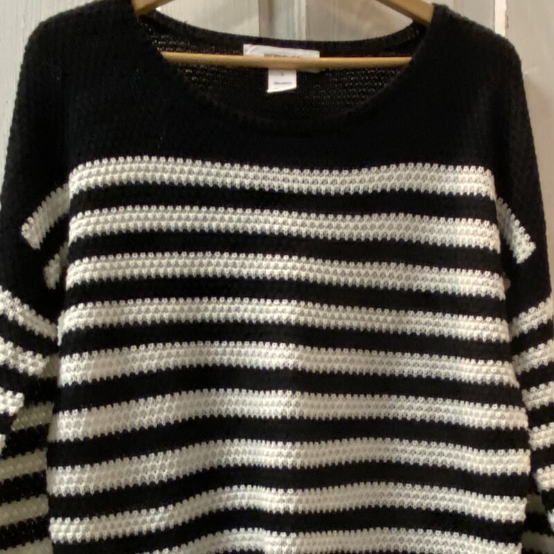Blk/white Stripe Sweater.