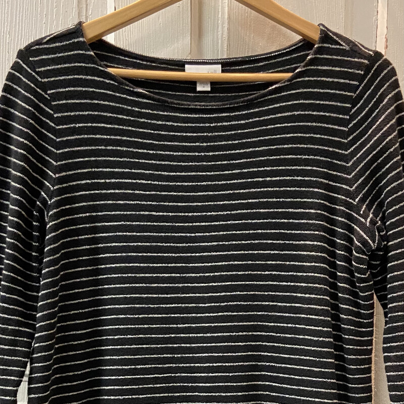 Blk Stripe Textured Tunic.