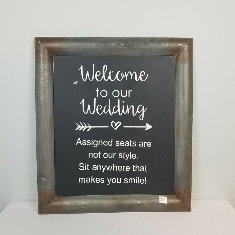 Tin Welcome Sign.
