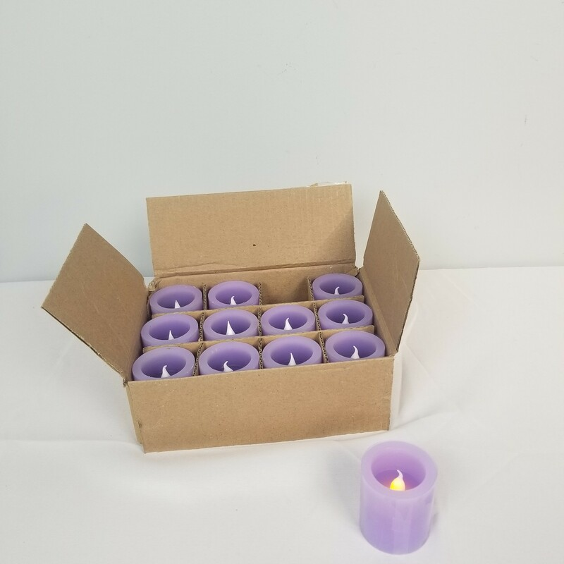 12ct LED Votive Set, Purple, Size: 12 Ct<br /> <br /> Candle Size: 2x2<br /> <br /> 1 More Set Available In Store