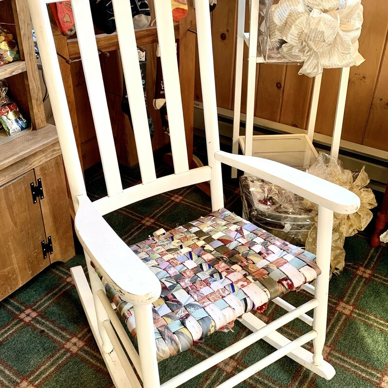 Rocking Chair W/Rag Ties.