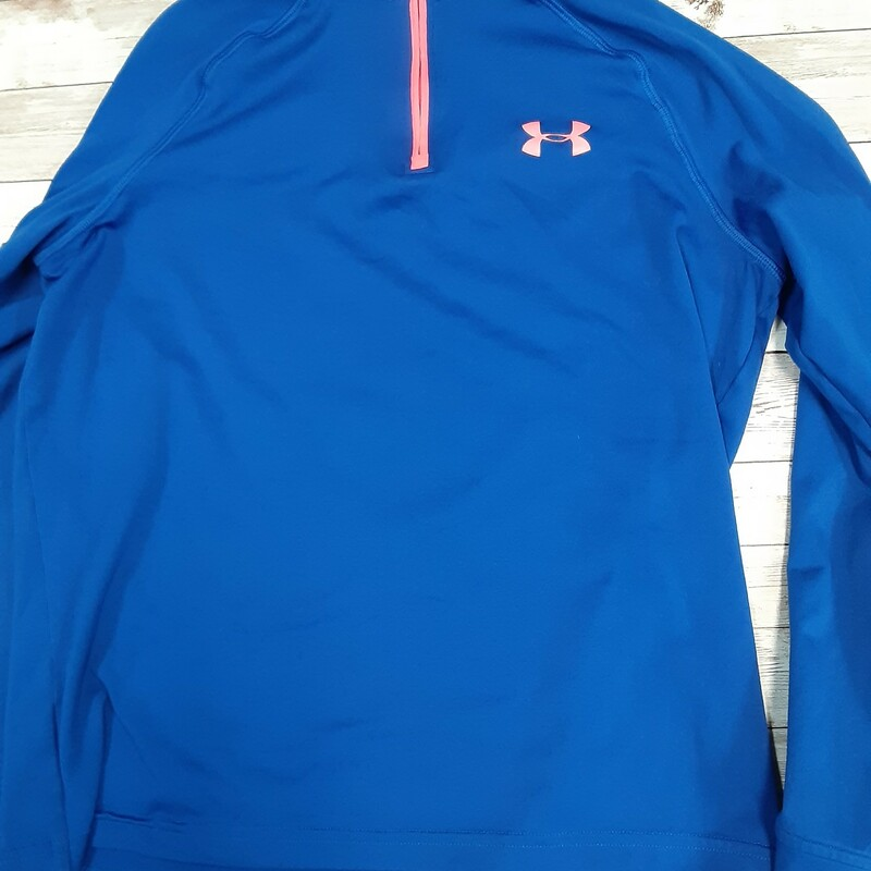Under Armour Pullover, Blue, Size: 10/12 Boys