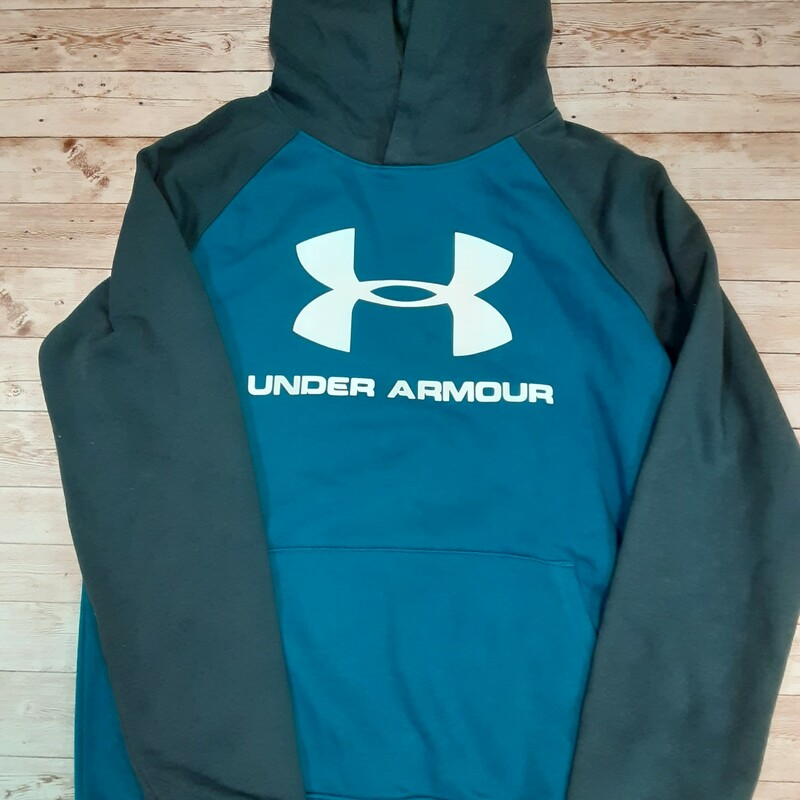 Under Armour Hoody, teal, Size: 14/16 Boys