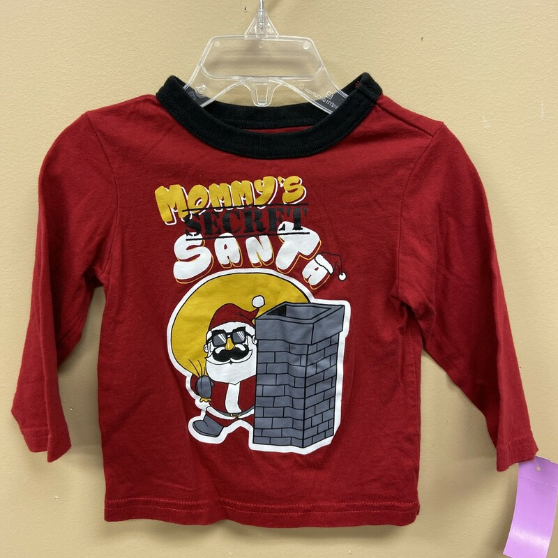 Place Long Sleeve, Red, Size: 12-18mth