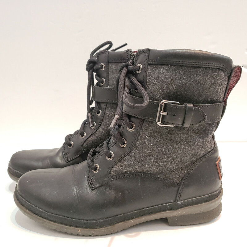 UGG<br /> Kesey<br /> Gray and Black<br /> Comes with Box<br /> Size 6.5<br /> Original Retail $160