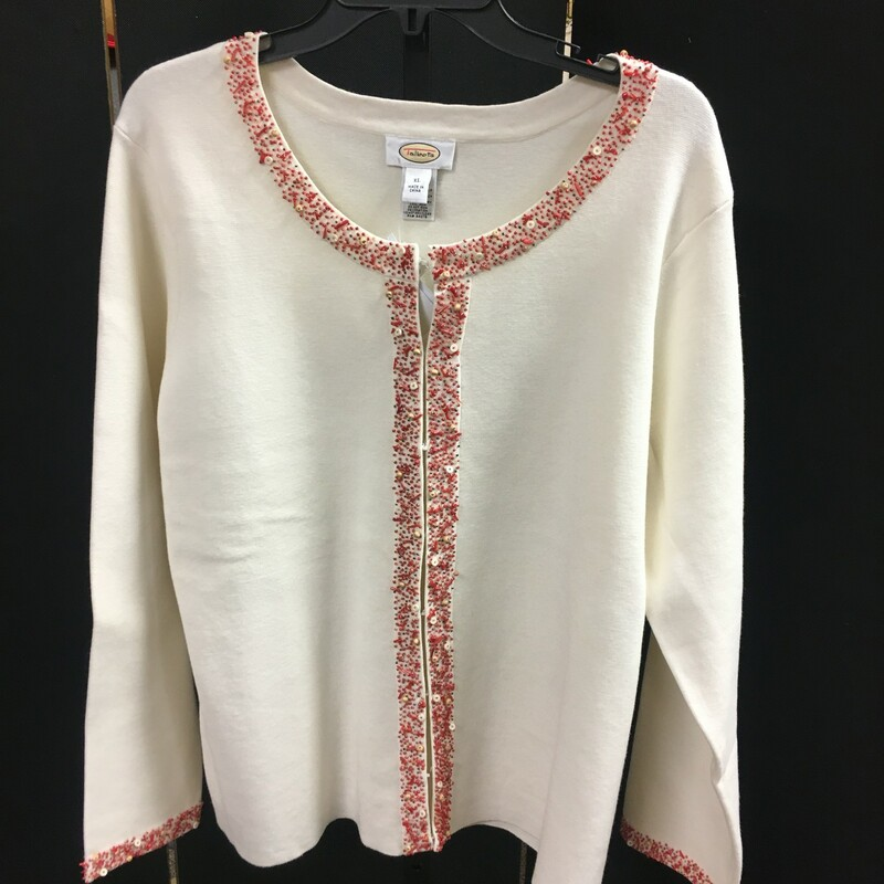 Beaded Trimmed Cardi.