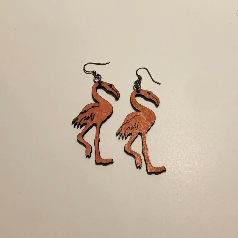 Flamingo Earrings.