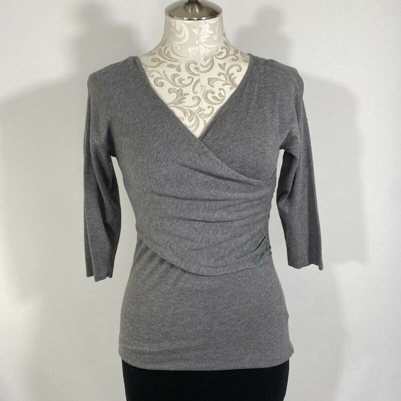 Lord&Taylor Crossed Sweat, Grey, Size: Medium