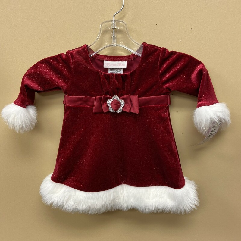 Bonnie Baby Dress, Red, Size: 3-6mth