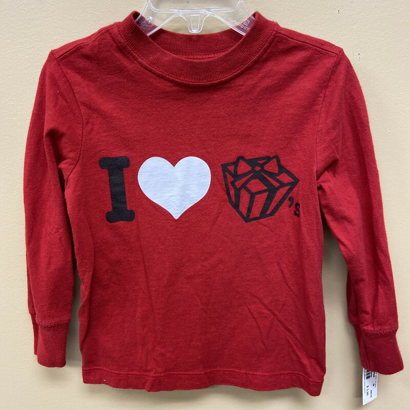 Old Navy Long Sleeve, Red, Size: 3t