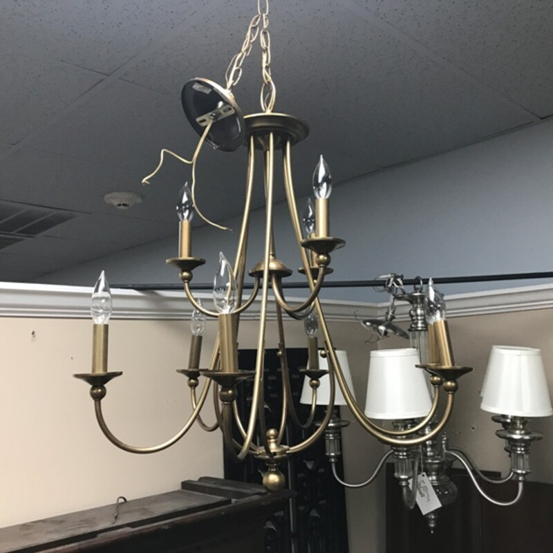 Brass Chandelier.