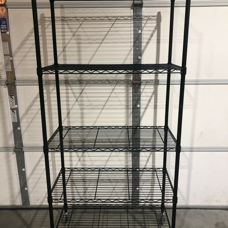 Wire Shelving Unit.