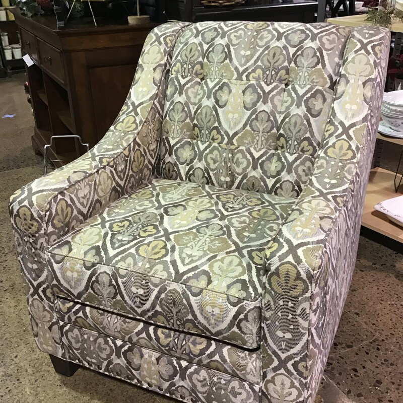 Patterned Accent Chair.