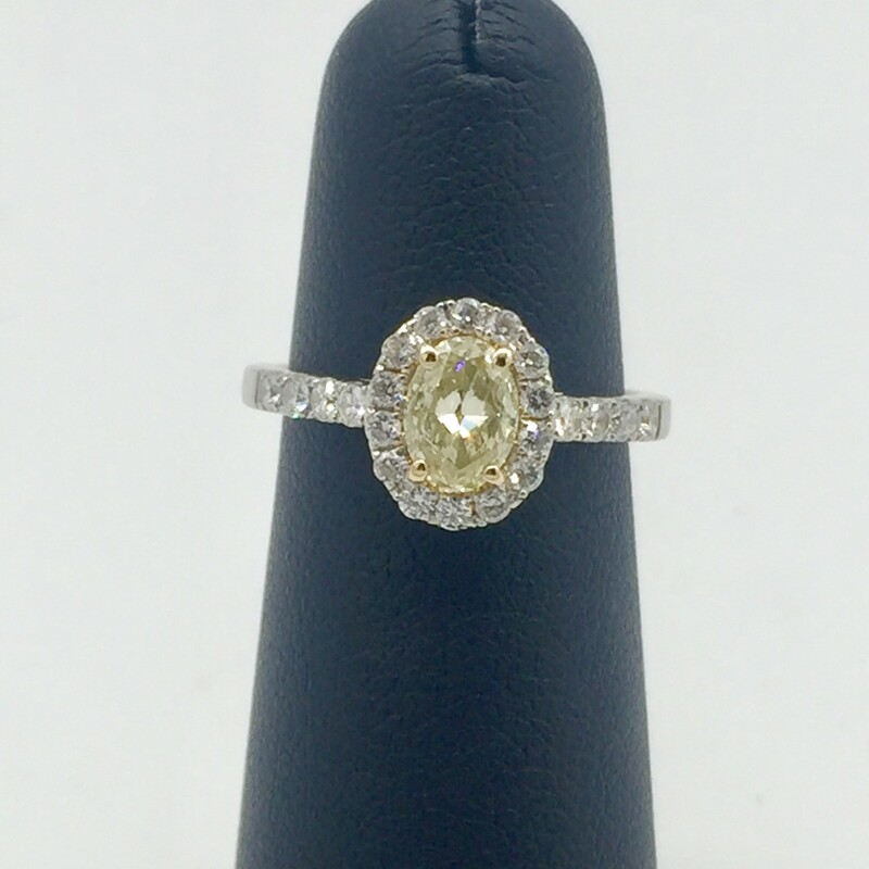 .74ct Oval Yellow Dia 1 5.