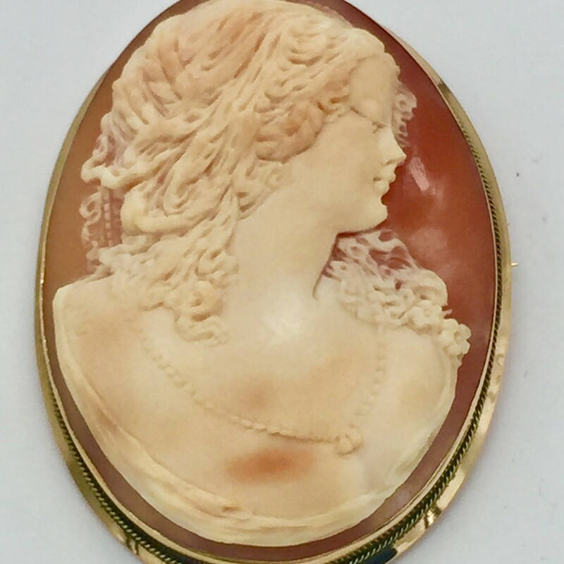 18kt Cameo Pend/pin.