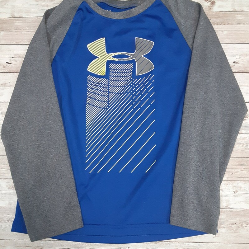 Under Armour Shirt, Gry/blue, Size: 7 Boys