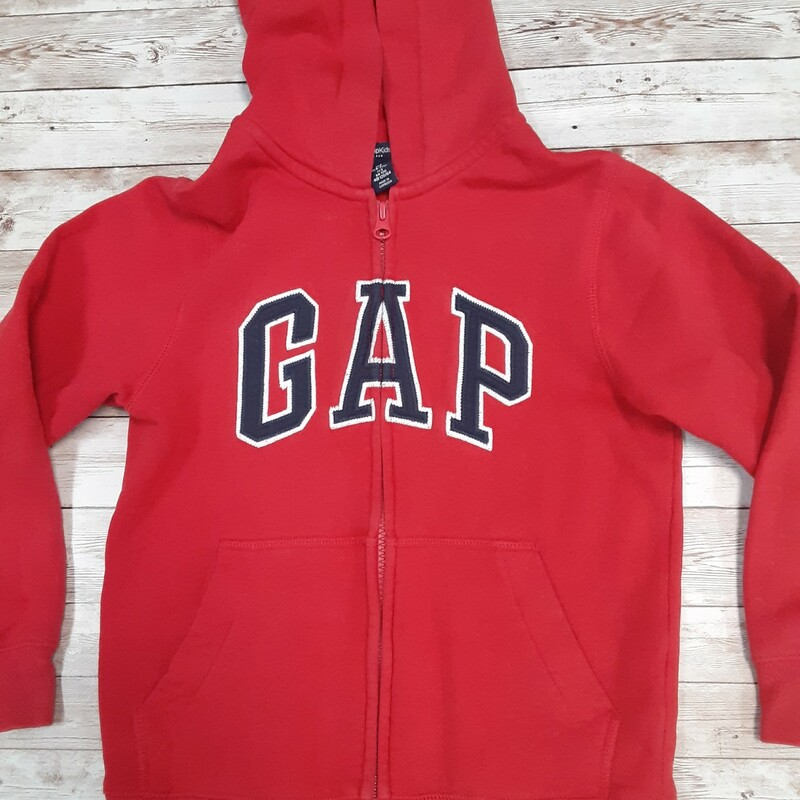 Gap Sweatjkt, Red, Size: 6 Boys