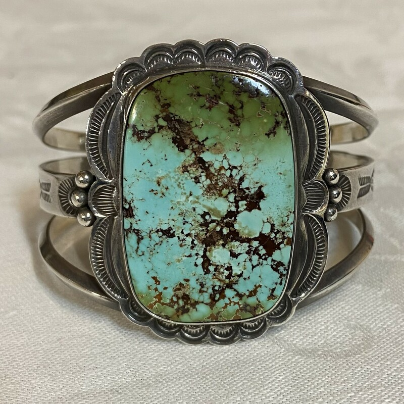 Sterling Turquoise Cuff.