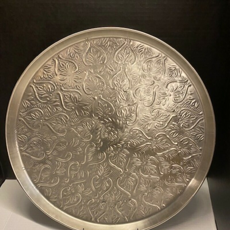 Pier 1 Metal Scroll Tray.