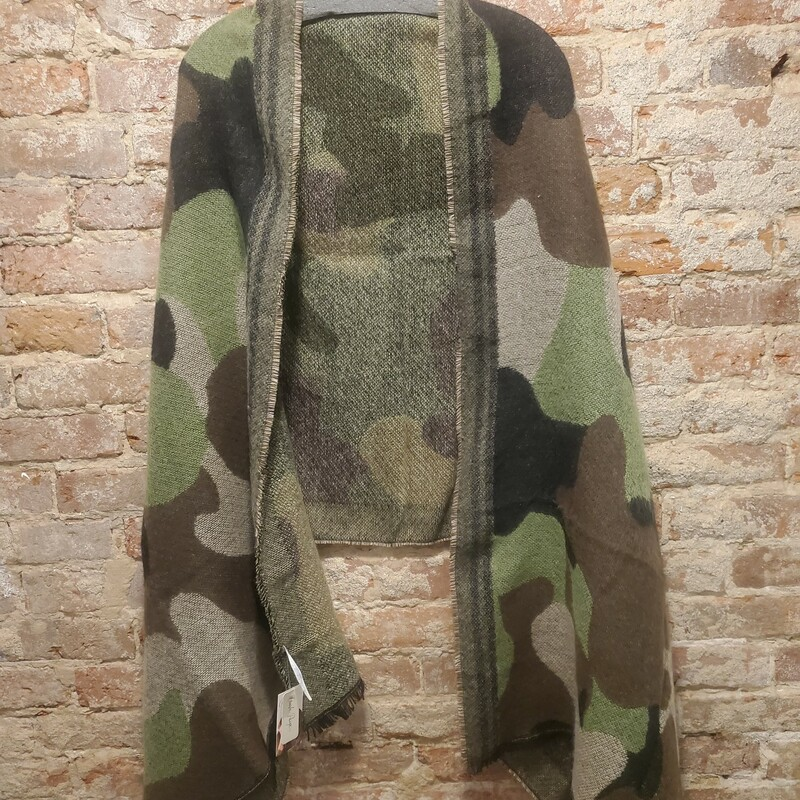 Camo Shawl green, black and brown one size 6 in stock