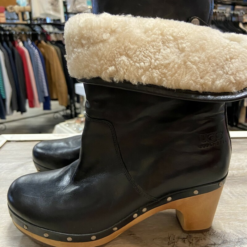 Ugg Black Clog Boot.