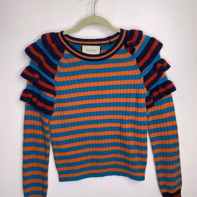 Gucci Ruffled Sweater, Multi, Size: M