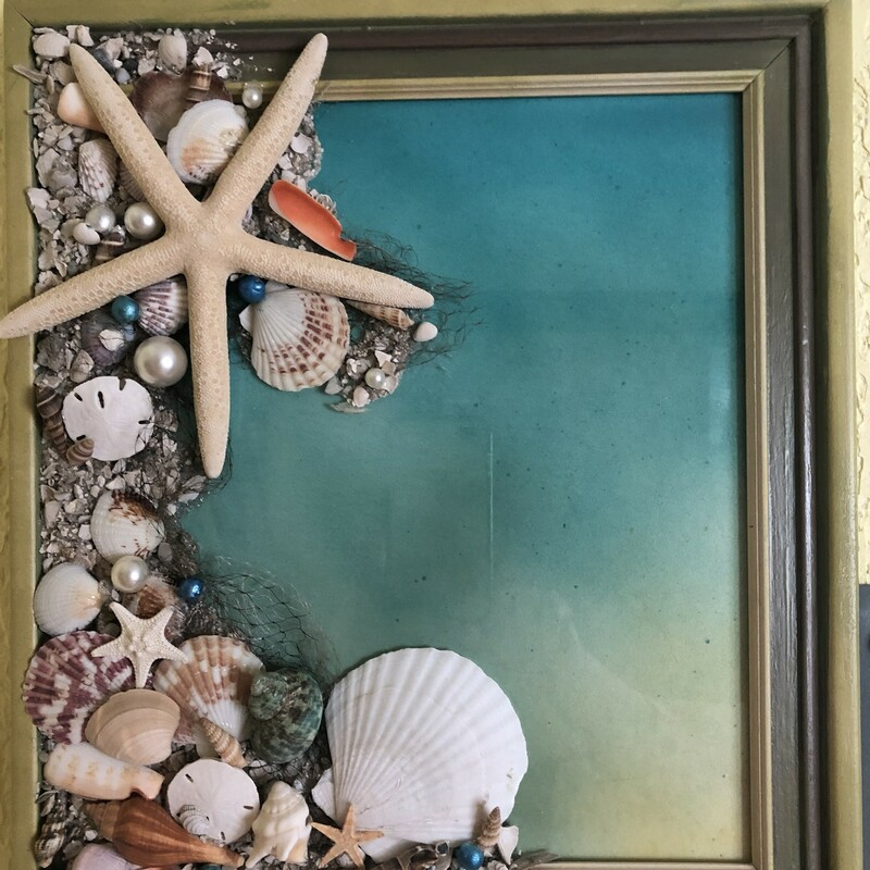 Shell Art In Frame.