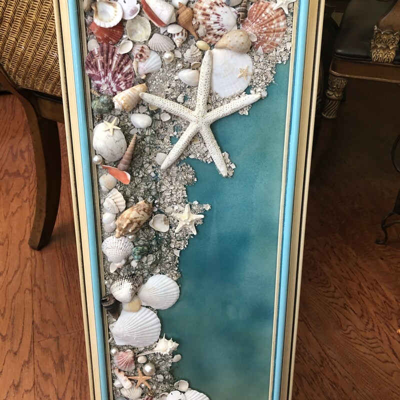 Shell Art Framed.