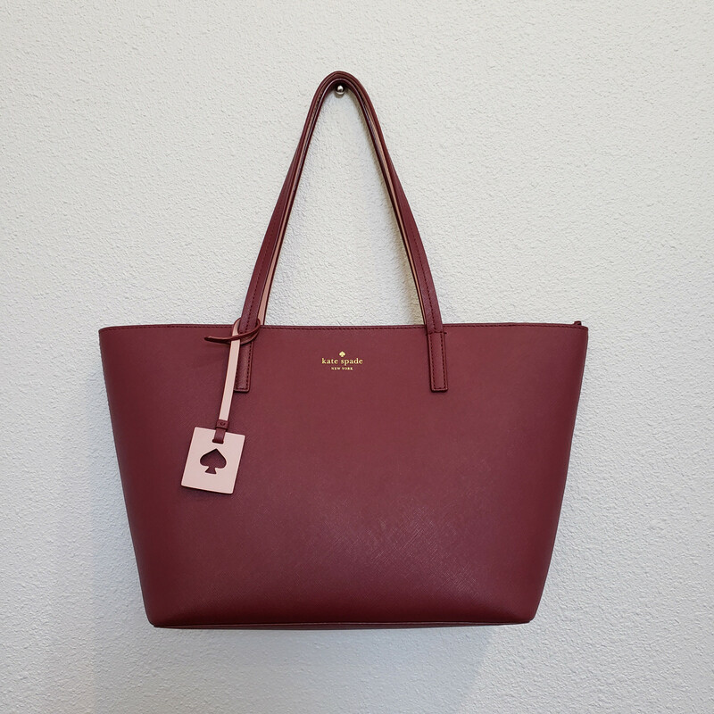 Kate Spade<br /> Wine Colored Large Tote