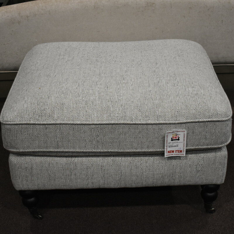 E U4176-2209 fabric ottoman grey BRAND NEW ITEM
