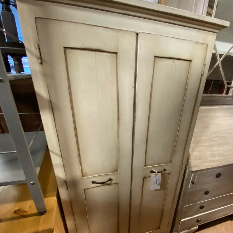 "2 Door Tv / Storage Cab, Painted, White<br /> Size: 59"" x 32"" x 24"""