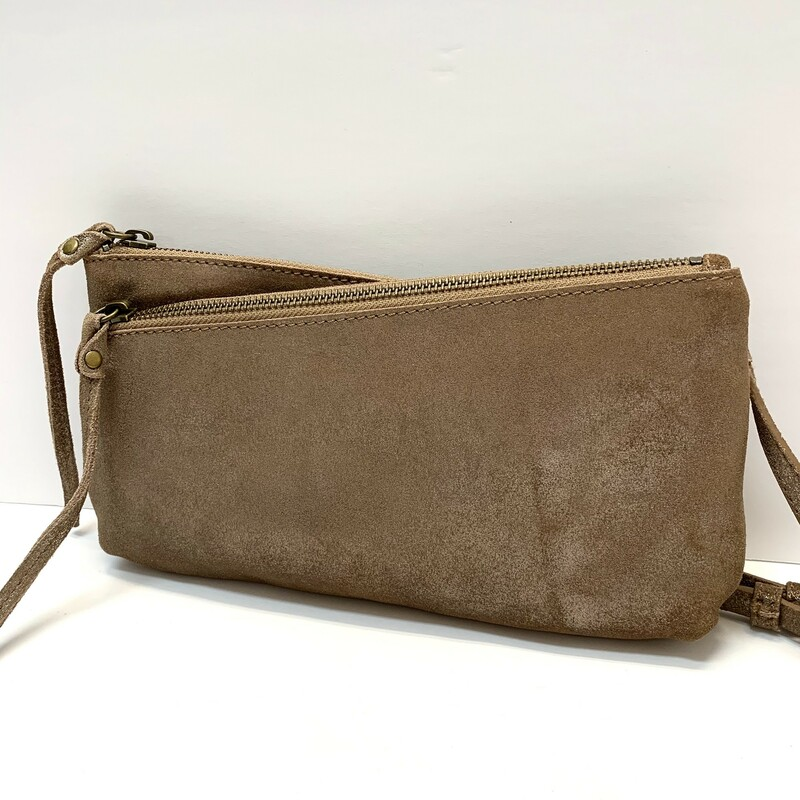"Sundance<br /> Moonlit Shores Suede Handbag<br /> <br /> A subtle shimmer and shine in the softest suede, with three compartments and one inner pocket. Wear crossbody or use as clutch; detachable strap.<br /> Suede.<br /> Approx. 11""W x 1""D x 6""H."