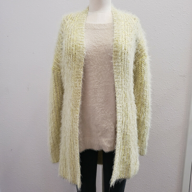 Anthropologie<br /> Lime Green Gold Thread<br /> NWT!<br /> Small