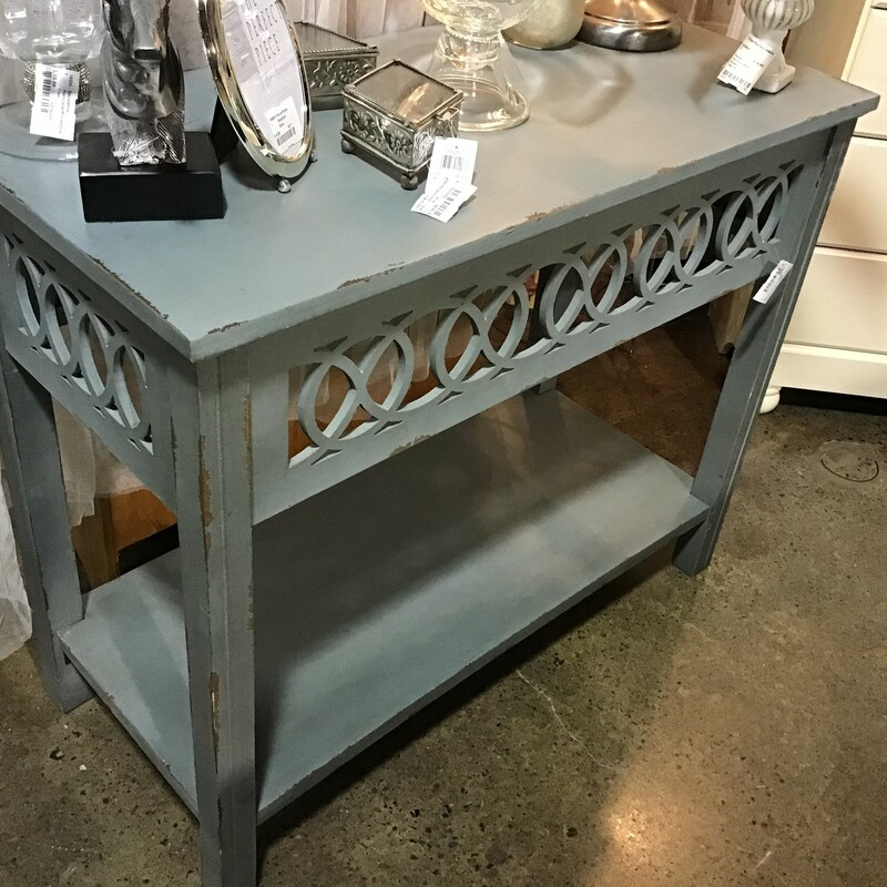 Distressed Accent Table.