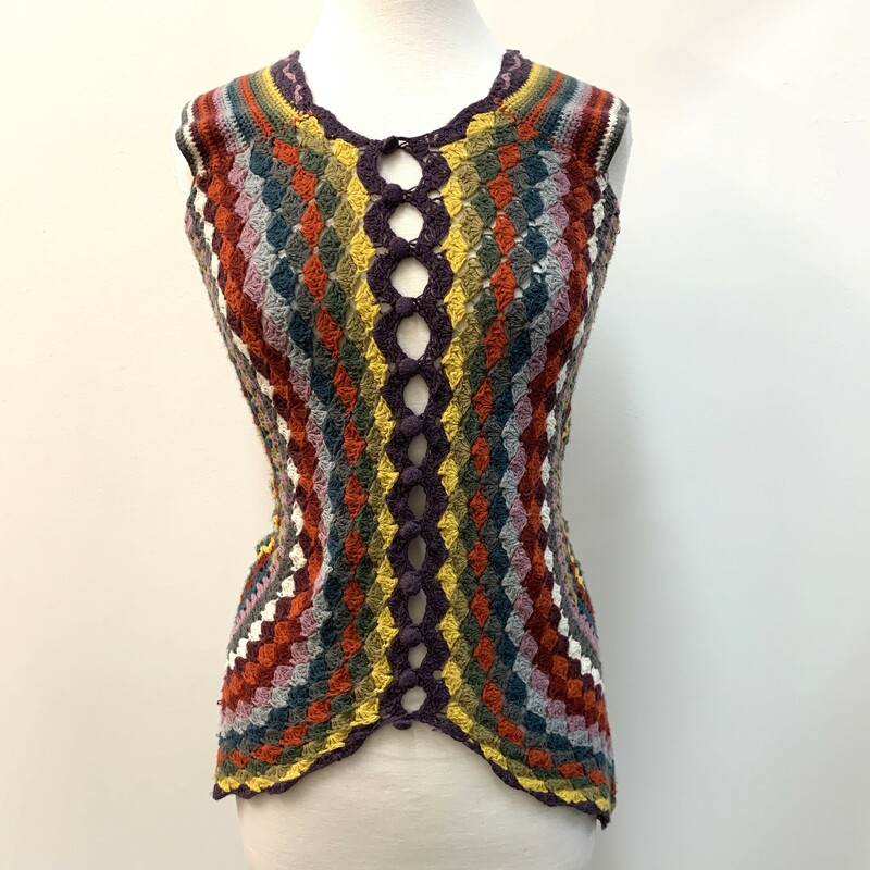 Lulumari Crocheted Vest<br /> Anthropologie<br /> Multicolored<br /> Size: Small