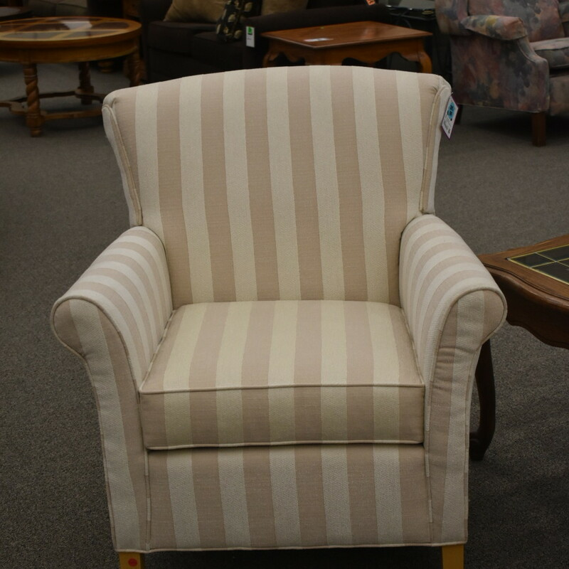 Norwalk Stripped Arm Chair