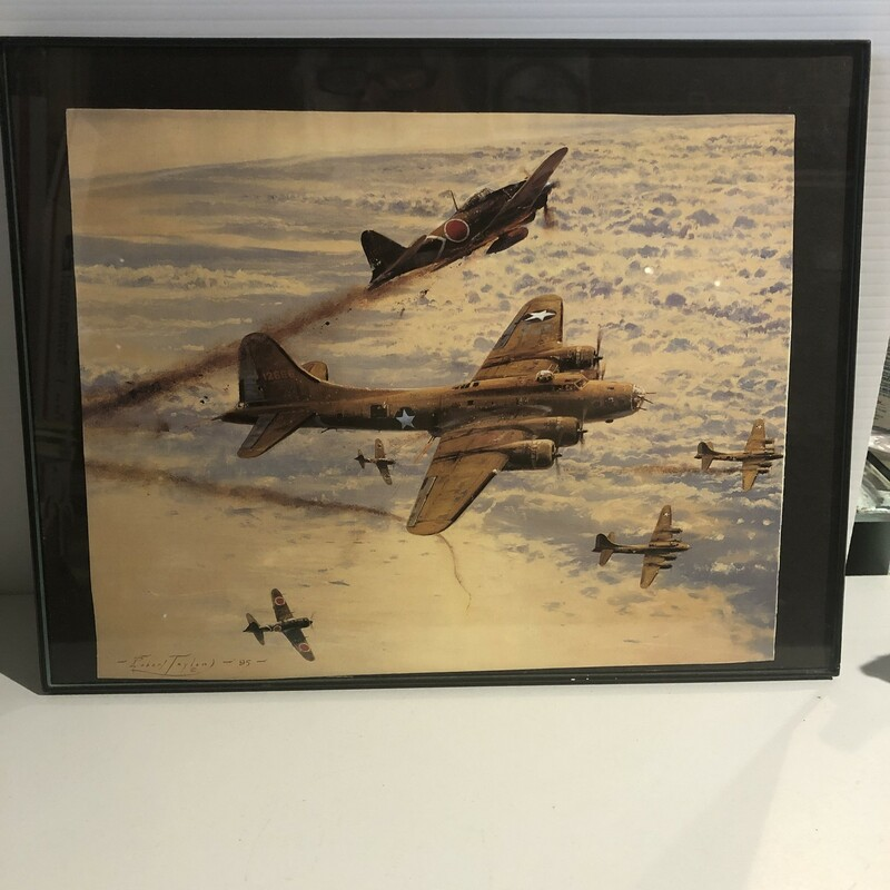 War Airplane Magazine Print, New Frame, Size: 13x10""