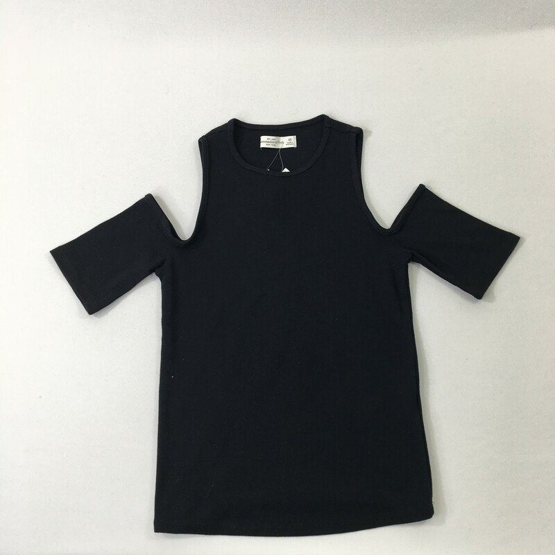 Abercrombie And Fitch, Black, Size: XS cut out shoulders short sleeve 50% polyester 48% cotton 2% elastane new with tag