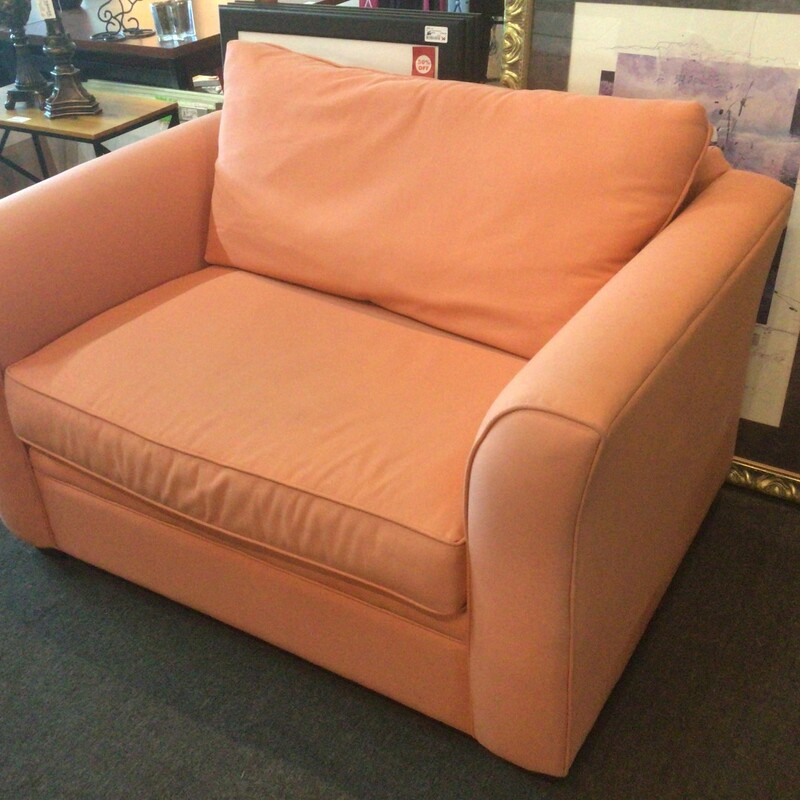 "Orange Sofa Bed Chair, Orange, Sofa Bed<br /> 53"" wide x 36"" deep x 35"" tall"
