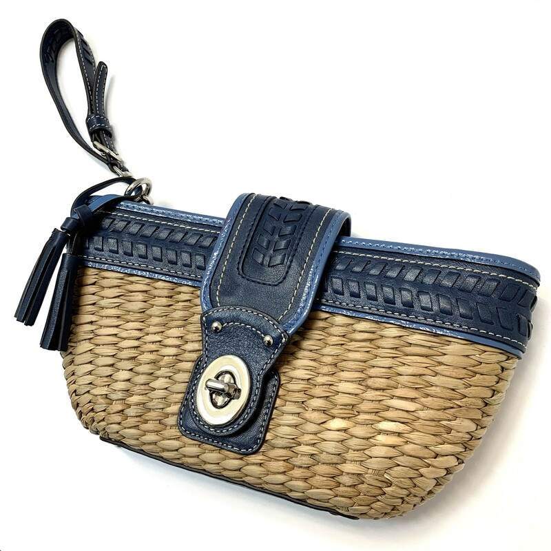 Coach Wicker Wristlet.