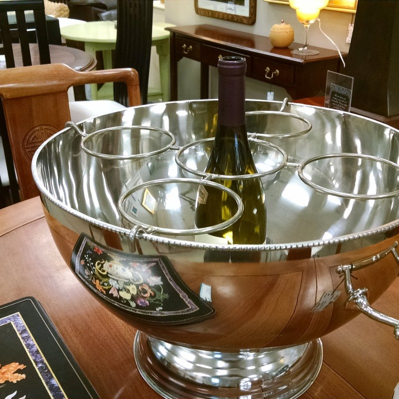 Silver Wine Cooler Bowl