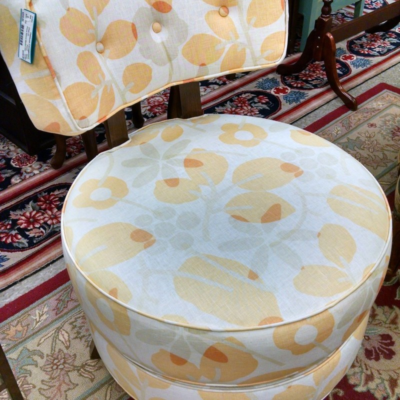 Floral Swivel Martini Chair