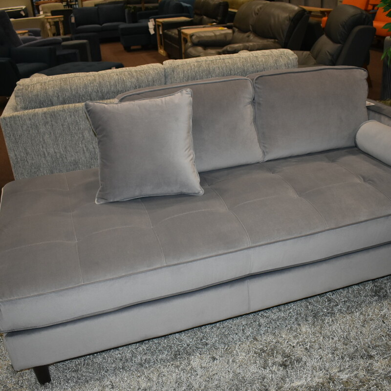 H 9329gy-2 Loveseat Grey Chaise BRAND NEW ITEM