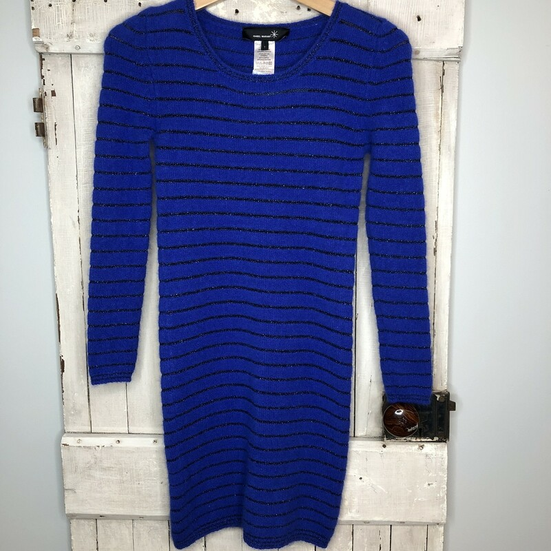Sweater Dress Isabel M, Blue Str, Size: Xsmall