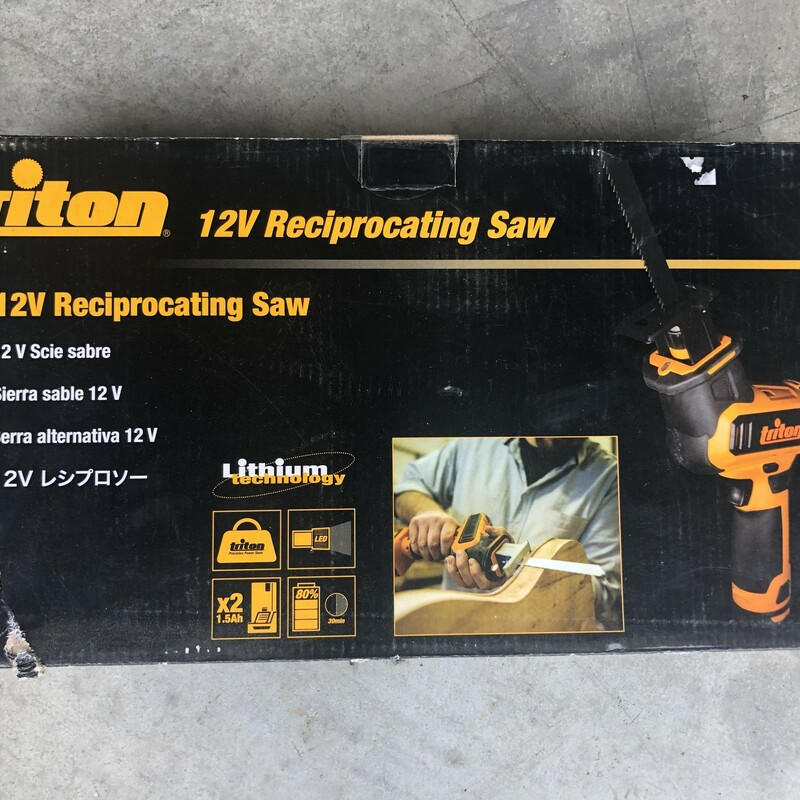 Triton T12RS 12V Cordless Reciprocating Saw<br /> <br /> *NEW IN PACKAGE*