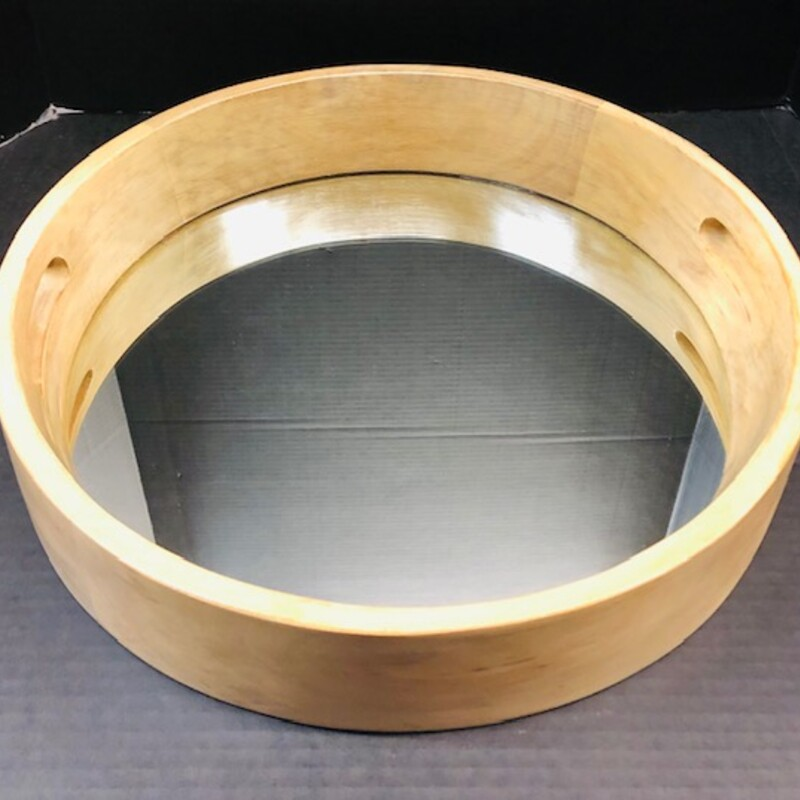 Round Wood Mirror Bottom.