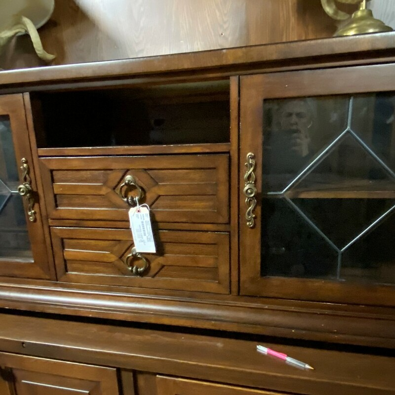 "Entertainment/Storage Cab, 2 Drawer, 2 Glass Doors<br /> Size:  68"" x 28"" x 21""  (w/h/d)"