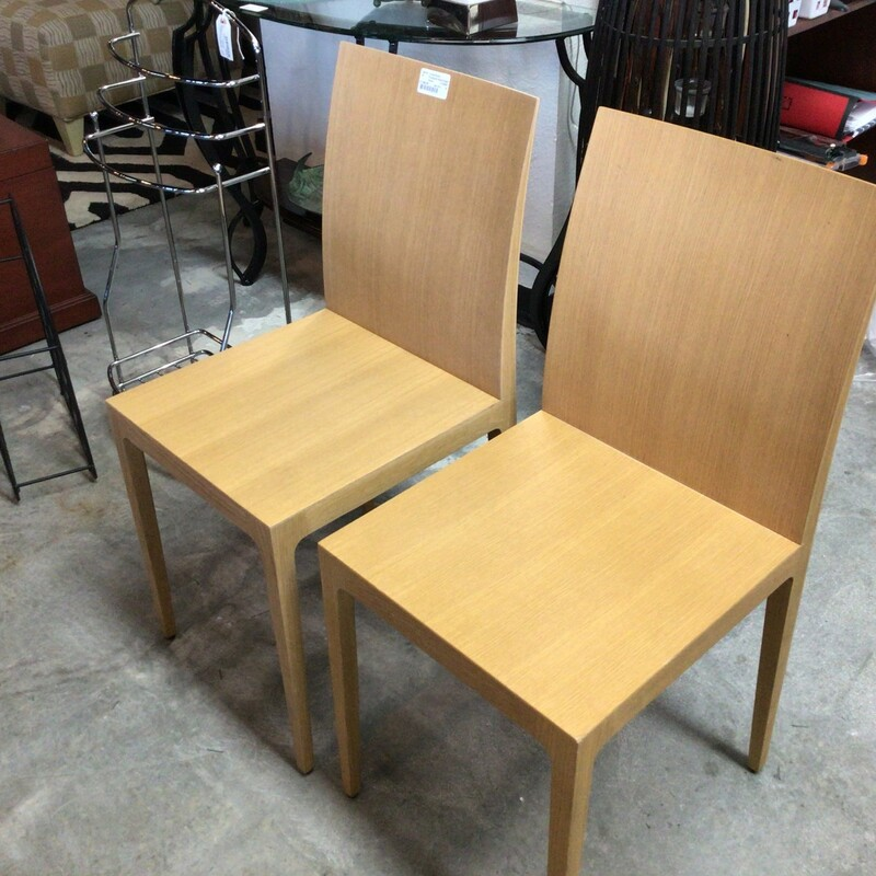 Crassevik Wood Chairs, Wood, Set Of 2<br /> 16' wide x 34' tall
