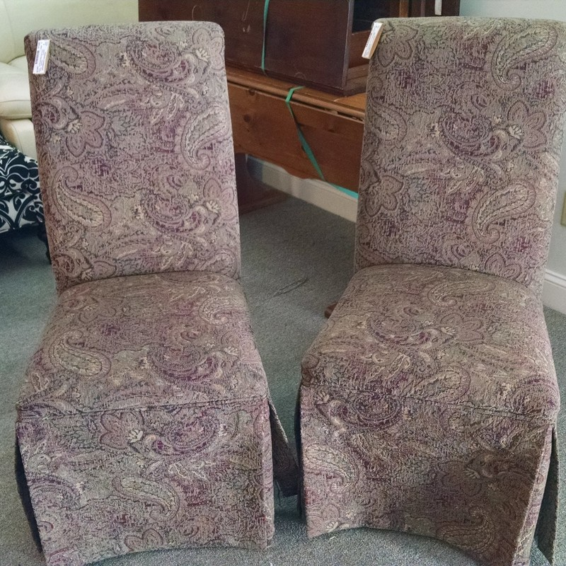 2 Parsons Style Dining Chairs
