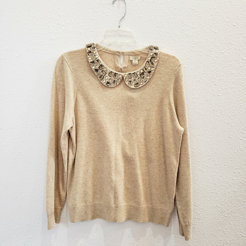 J Crew Embellished, Tan, Size: Medium